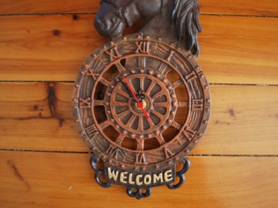 Cast Iron French Style Horse Head Wall Clock Rustic Ebay