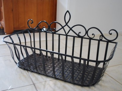 Quality Iron French Style Wall Flower Pot Plant Holder ...