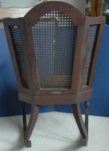 Very Rare Wingback Cane Rocking Chair Heywood Wakefield Ebay