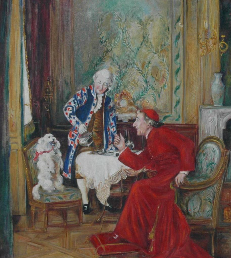 Original Oil on Canvas Painting of a Catholic Cardinal At ...
