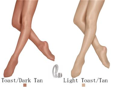 cc27e1b8f98e7 Details about Footed Shimmer Dance Tights Ballet Pantyhose waist gusset  Child to Adult da022