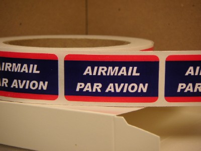 Airmail Par Avion 1x2 Stickers Labels Mailing For All