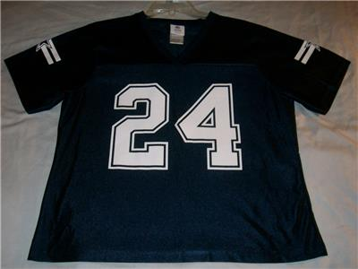 timeless design e66f9 6ded3 Details about Marion Barber 24 Dallas Cowboys Team Apparel NFL Blue Jersey  Women's XL used