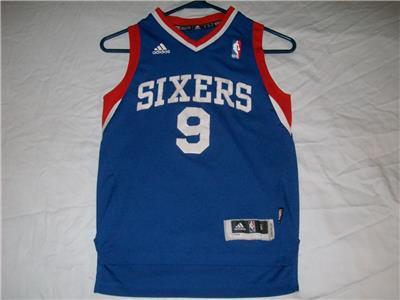 Andre Iguodala 9 76ers Sixers Philadelphia NBA adidas Blue Jersey ... f47913b8f