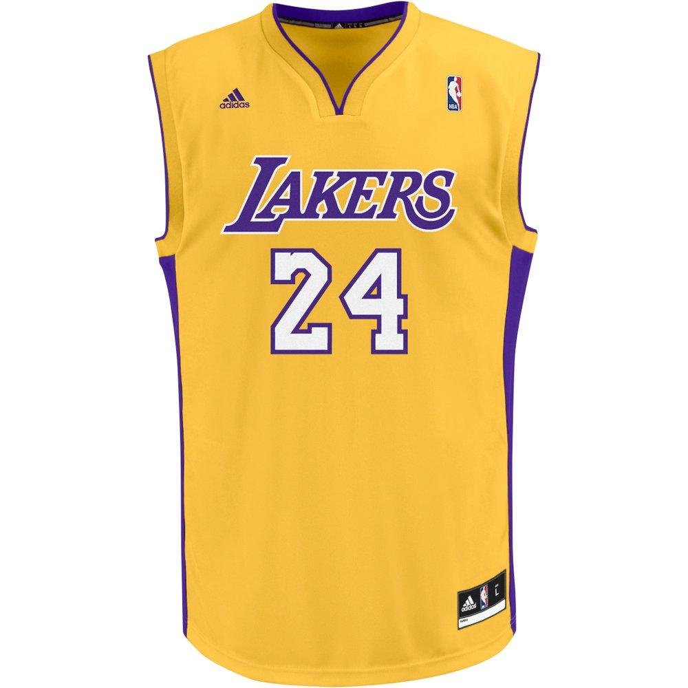 New NBA La Lakers Kobe Bryant 24 Basketball Jersey Yellow ...