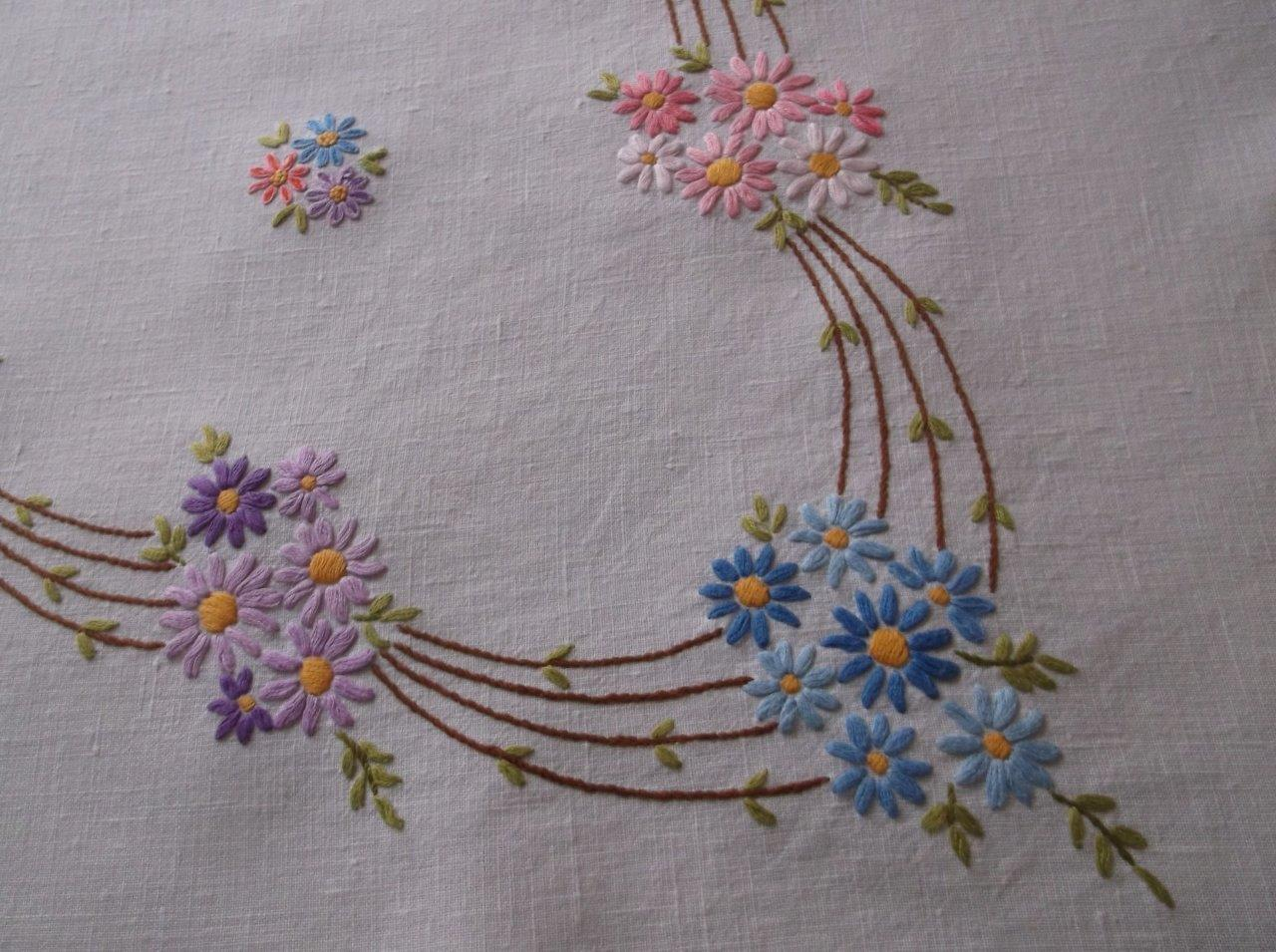 how to make a tablecloth with a border