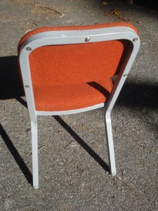 Incroyable MID CENTURY MODERN UPHOLSTERED METAL CHAIR UNITED CHAIR CO Circa1975  INDUSTRIAL