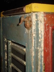 Repurposed Pie Safe Cabinet Antique Shutters Amp Windows