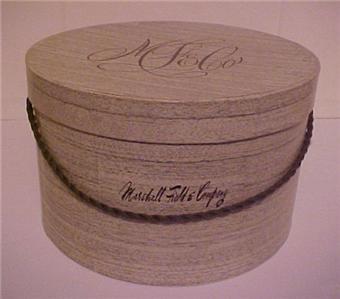 ed2e85c2fb3c0 Vintage Marshall Fields Fields Women`s Cardboard Hat Box Circa 1940 ...