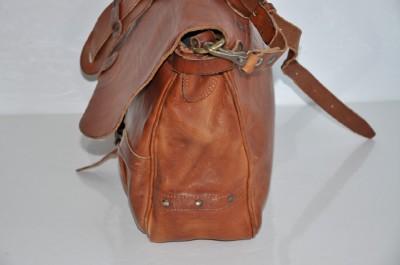 bbaa41b1be Ralph Lauren RRL Vintage Leather Messenger Mail Bag on PopScreen