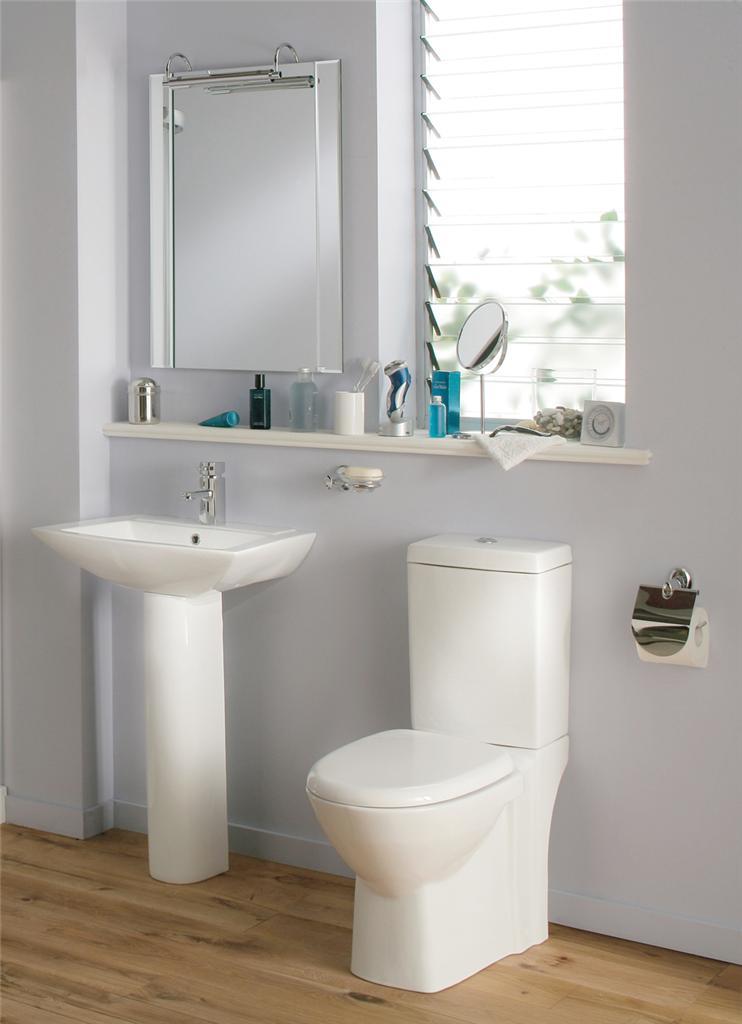 M100 Sorea Bathroom Suite White Bath Toilet Sink Basin