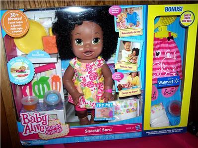 Baby Alive Super Snacks Snackin Sara African American