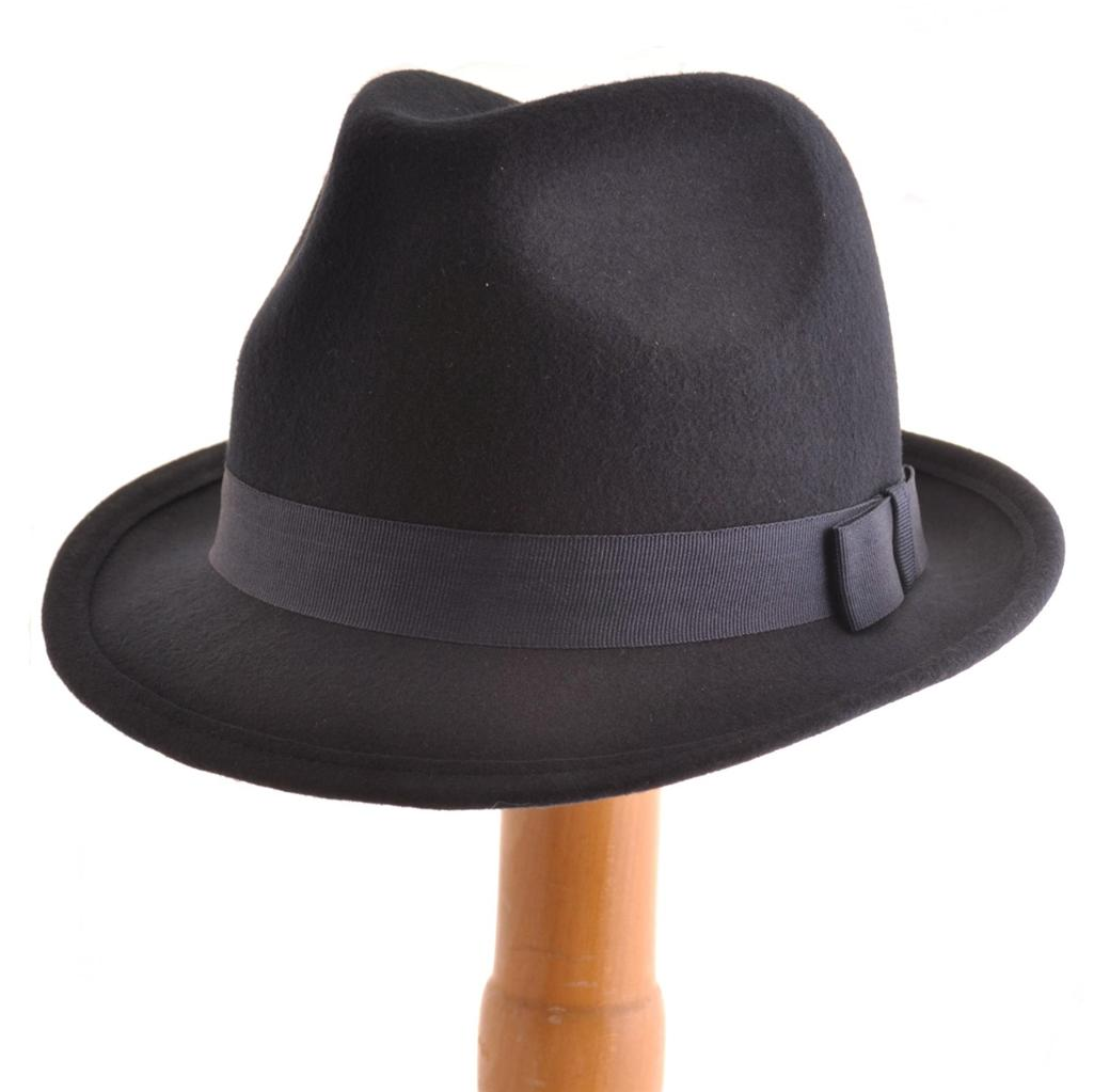 Details about VTG 40s 50s Style Felt Trilby Hat BNWT NEW 100% Wool Gangster  Fedora S M L 9c0b32d5a33