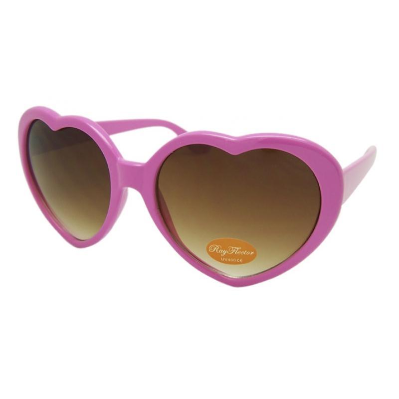 VINTAGE 70s Style Pink Heart Shaped Lolita Sunglasses ...