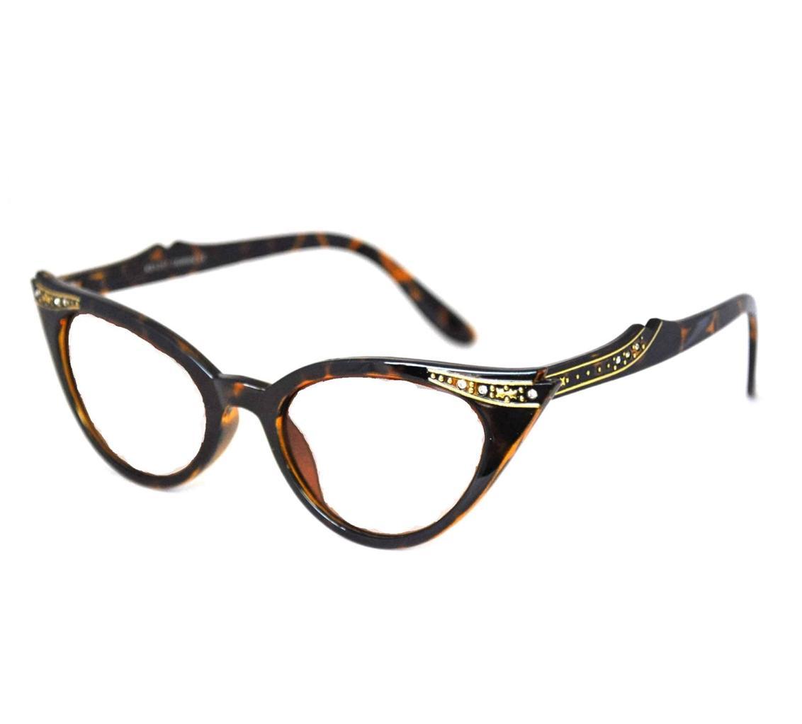 Retro 50s 60s Style Cats Eye Diamante Sunglasses