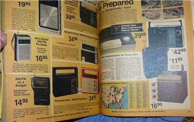 Radio Shack 1977 Electronics Catalog Transistor Radios