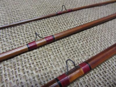 Vintage Govenor 3 Pc Wooden Fishing Pole Case Old Antique Fish Reel