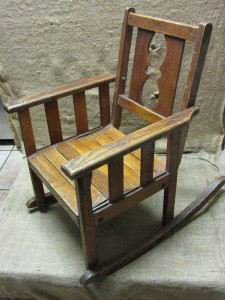Vintage Childs Wooden Rocking Chair Gt Antique Old Stool