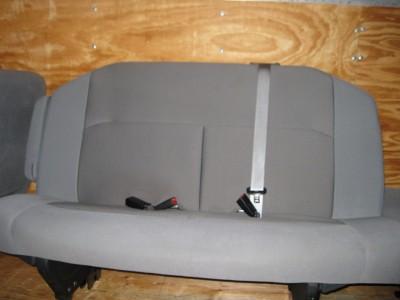08 12 Ford Econoline Van 2nd Row 3 Passenger Gray Cloth Bench Seat