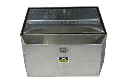 "49"" Larger Trailer RV ATV Trailer Tongue Box Unique Aluminum Diamond Plate Box"