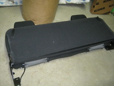 07 12 Chevy Silverado GMC Sierra Extended Cab Black Ebony Cloth Rear Bench Seat