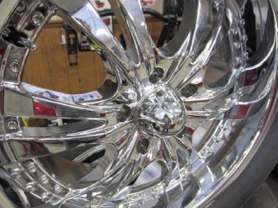 "02 12 Dodge RAM 1500 Truck 5 Lug 20"" Chrome 6 Star Panther Wheels Tires"