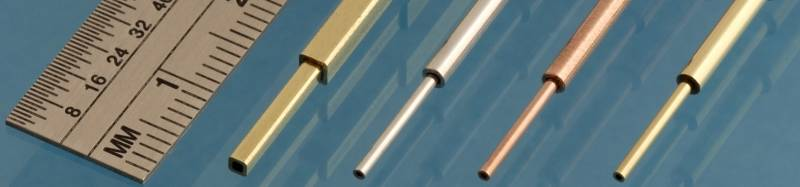 Albion Alloys Aluminium Micro Tube 0.6 mm OD x 0.4 mm ID x 0.1mm Wall Pack of 3