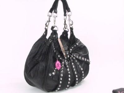 Betsey Johnson Bows Arrows Studded Leather Handbag Tote Atrocious New