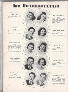 1939 Rutherford High School Yearbook The Rutherfordian Rutherford