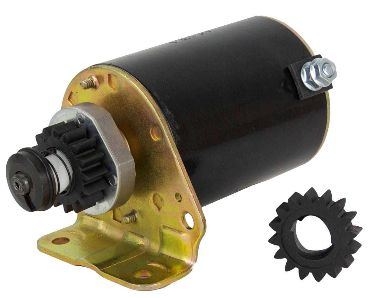 New Starter Fits Briggs Stratton Cooled Engines 12hp 16hp With Free Gear 391423
