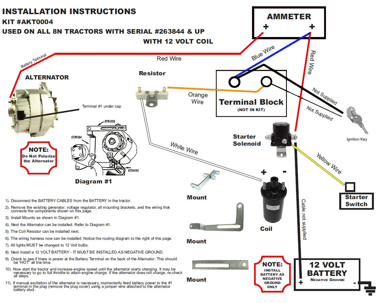 ford 8n 12 volt wiring new 8n ford alternator fits generator conversion kit side ... 8n 12 volt wiring diagram #8