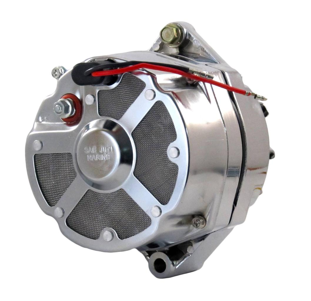 new chrome mercruiser marine alternator fits delco 3 wire. Black Bedroom Furniture Sets. Home Design Ideas