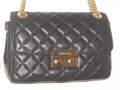 d7cb3e71ebee Michael Kors Quilted Bag Gold Chain. Michael Kors Susannah Large Tote ...