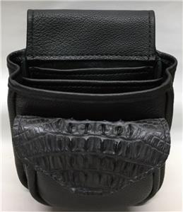 Crocodile Amp Leather Shotgun Shell Pouch Skeet Sporting