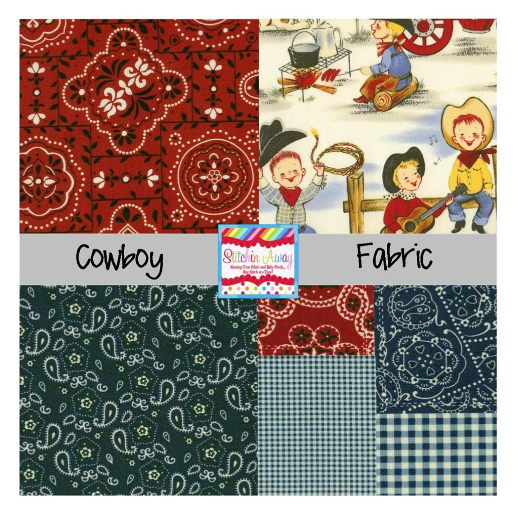 Michael Miller Cowboy Or Cowgirl Fabric 100 Cotton