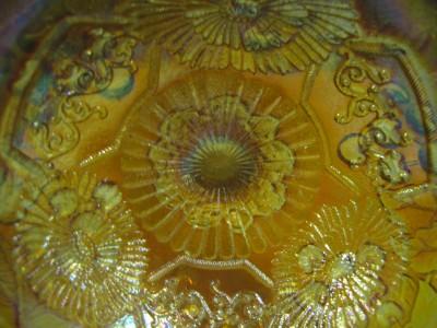 Fenton Marigold Carnival Glass Compote