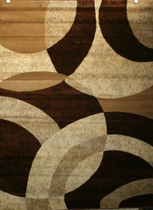 Beige Cream Brown 5x7 Area Rugs Carpet Abstract Black Ebay