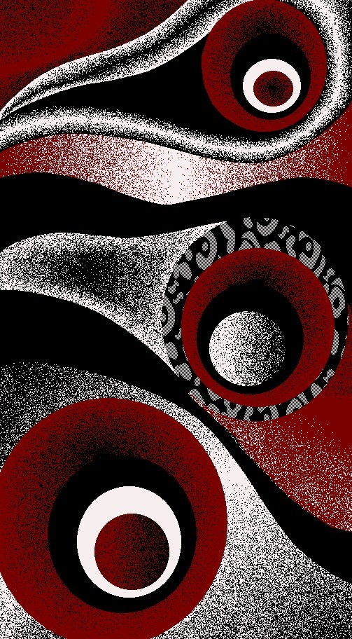 1504 Red White Purple Gray Black Modern Area Rug