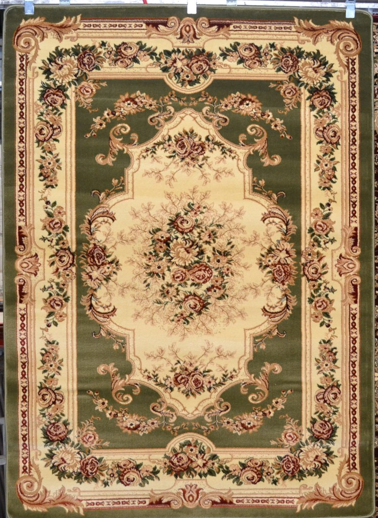 2857 Burgundy Green Ivory Victorian Oriental Area Rugs