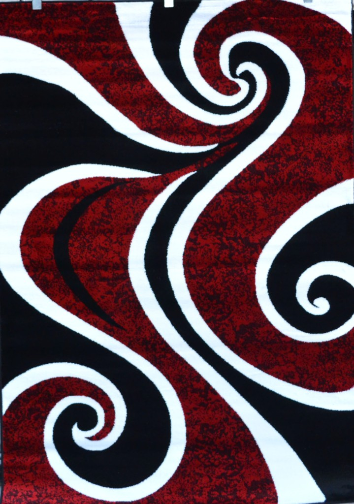 red black white contemporary modern carpet area rug new age abstract 0327 ebay. Black Bedroom Furniture Sets. Home Design Ideas