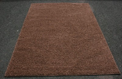 Shag Contemporary Area Rug Orange Blue Gray Black Brown