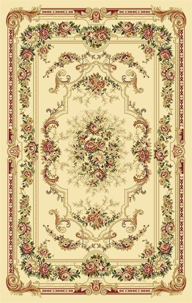 2857 Burgundy Green Ivory Victorian Oriental Area Rugs