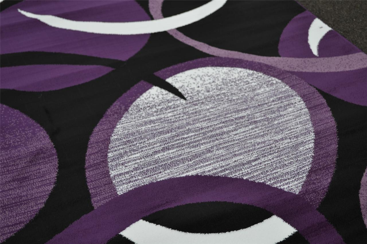 1062 Red White Purple Gray Black Modern Area Rug