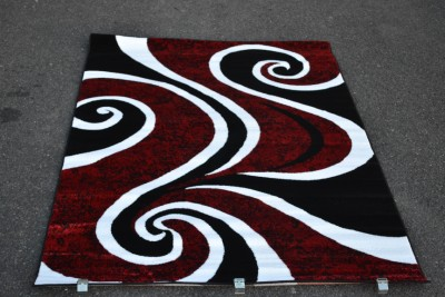 0327 Red Blue Purple Gray Black Modern Area Rug