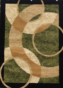 1052 Black Multi Green Beige Burgundy Modern Area Rugs