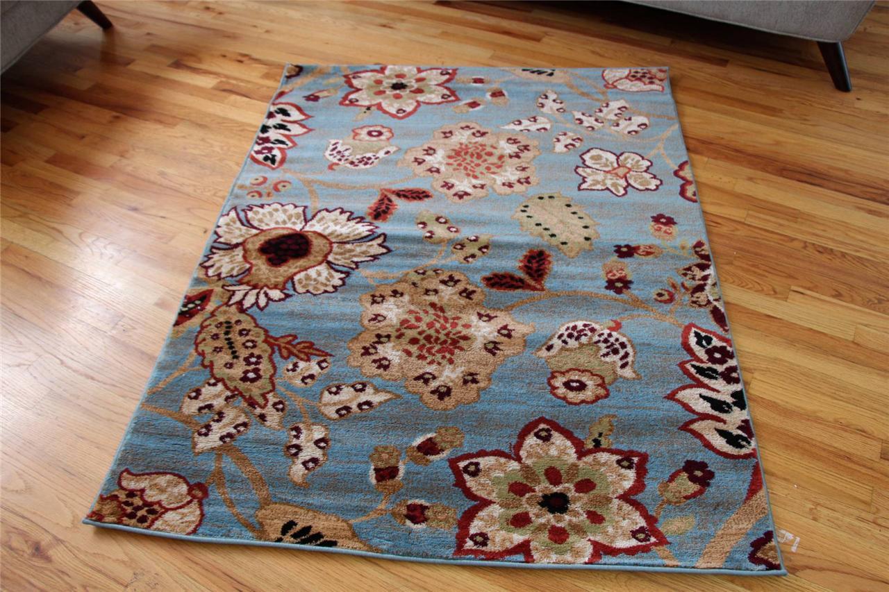 Blue Area Rugs Floral Oriental Rugs Burgundy Carpet Modern