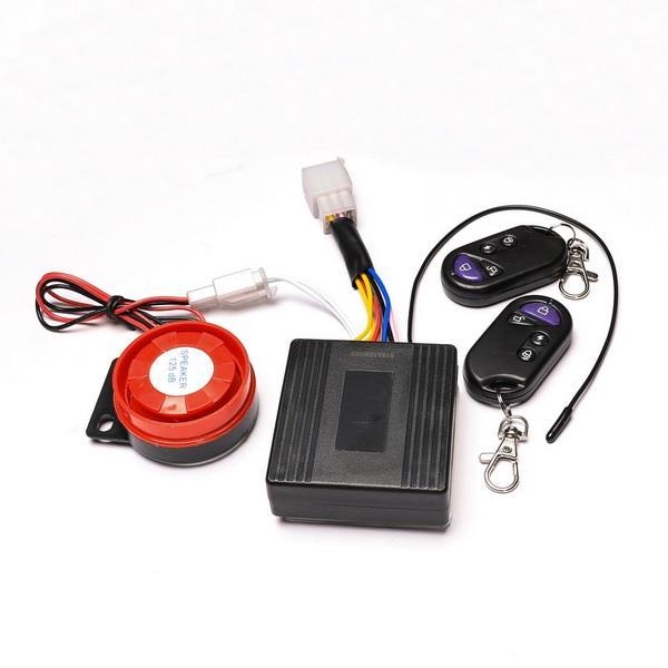 New Motorcycle Atv Quad Alarm System Set W   Remote Engine