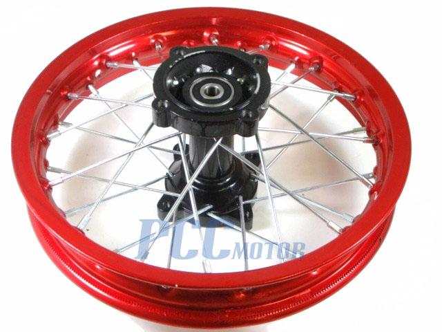 "12/"" BLACK REAR RIM WHEEL HONDA SDG COOLSTER 107 125cc BIKE M RM07K"