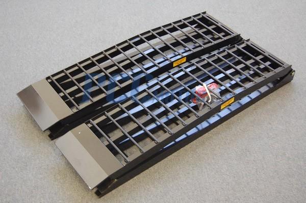 Aluminum Atv Ramps >> 8 Blk Arched Dual Folding Aluminum Atv Ramps Quad Ramp