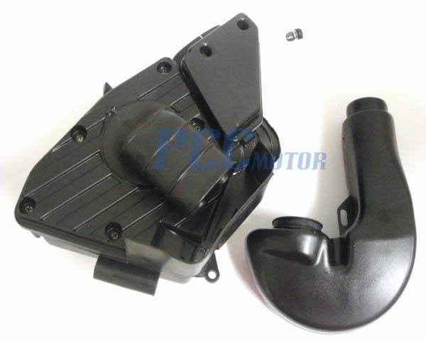 51mm air filter box for 250cc roketa scooters moped go. Black Bedroom Furniture Sets. Home Design Ideas